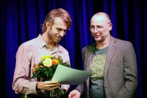 Max Howitz mit dem Künstlerischen Leiter Jörg Hückler